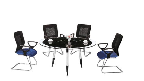 上金 玻璃茶几 会议桌系列