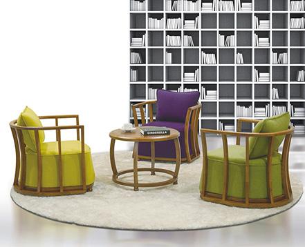 上金 休闲沙发 办公沙发 布艺沙发