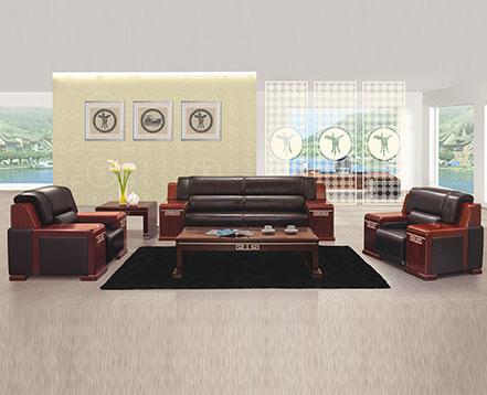 上金 休闲沙发 牛皮沙发 办公沙发