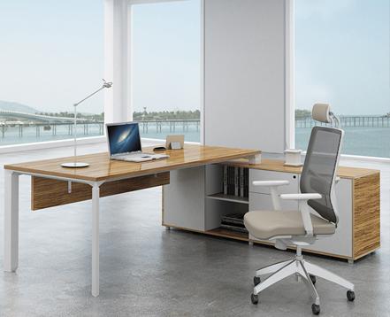 上金 钢木老板桌 经理桌 大班台