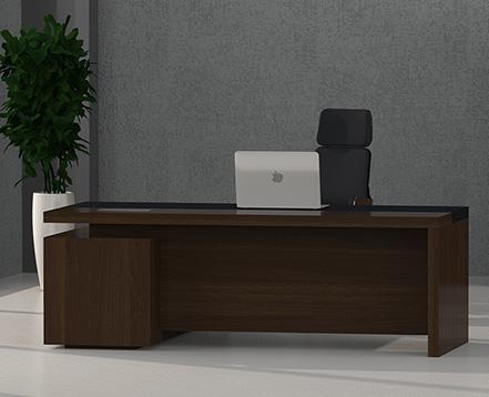 上金 实木大班台 上海转角办公桌 主管桌